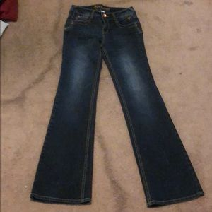 JUSTICE Boot Leg Blue Jeans, girl's sz 14S